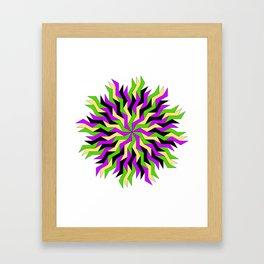 Lightning Wheel Framed Art Print