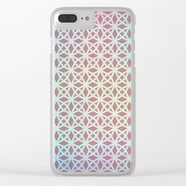 Pink and Blue Gradient Geometric Clear iPhone Case