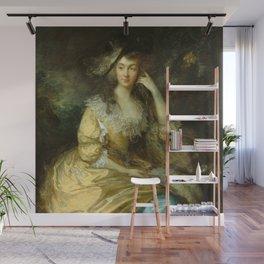 "Thomas Gainsborough ""Frances Susanna, Lady de Dunstanville"" Wall Mural"