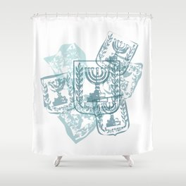 Emblem of Israel Shower Curtain