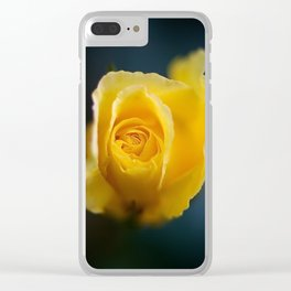 Pretty yellow rose. Clear iPhone Case