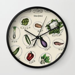 Vegetables cooking time Wall Clock