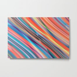 multicolored lines  Metal Print