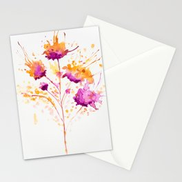 Blot Flowers Stationery Cards