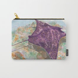 Colorful Ocean Manta Ray Carry-All Pouch