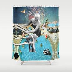 Happy Hippy Hippo Shower Curtain