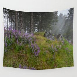 Bald Hill Lupines Wall Tapestry