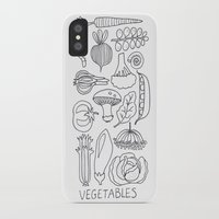 vegetables iPhone & iPod Cases featuring Vegetables by Eva Shorey