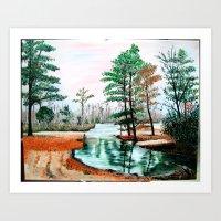 Fall Fishing Spot Art Print