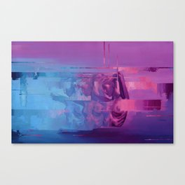 Black Rainbow Canvas Print
