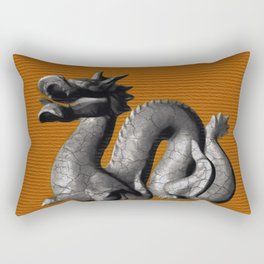 Chinese Dragon on Orange Rectangular Pillow
