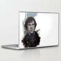 sherlock Laptop & iPad Skins featuring Sherlock by F3NR1R