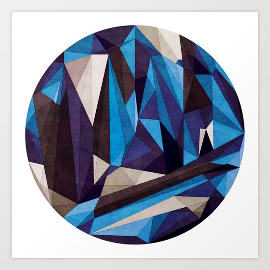 Blue Something Art Print