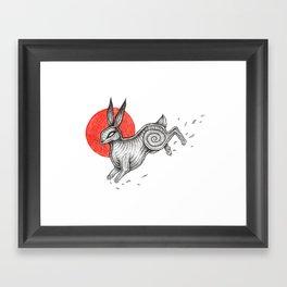 The Black Rabbit of Inlé Framed Art Print