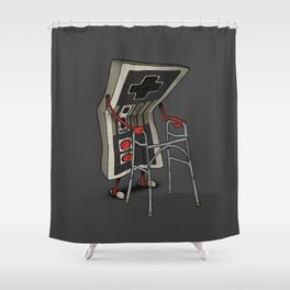 Old Gamer Shower Curtain