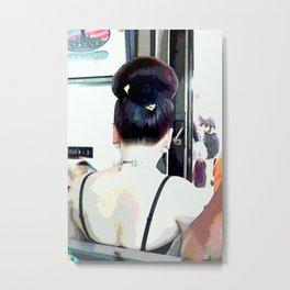 Asian Updo DPPA141130a Metal Print