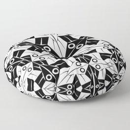 Escher Circle of Creatures Floor Pillow