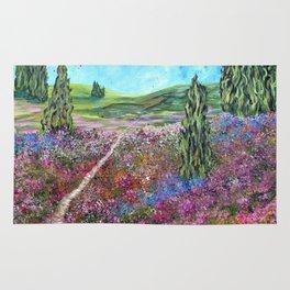 She Woke, Landscape Painting Rug