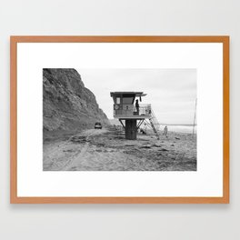 Life Guard Station Framed Art Print