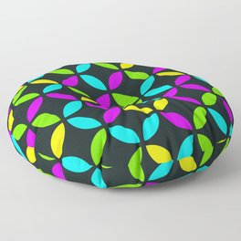 Citric colors stylish circles design for home ornament. Floor Pillow