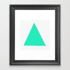 Mint Confetti Framed Art Print