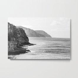 Impressive Cliffs | Tasmania - Australia | Travel Photography | Photo Art | Black & White  Metal Print