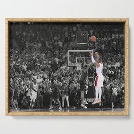 Damian Lillard vs OKC Dame Time Poster Port-land Trail Blazers Basketball Hand Made Posters Canvas Print Wall Art Man Cave Gift Home Decor Serving Tray