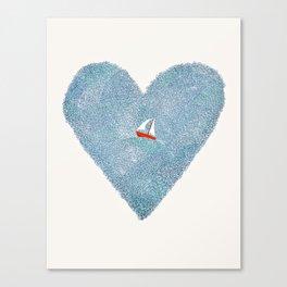 My Heart is an Ocean Canvas Print