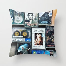 Old cassettes Throw Pillow