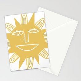 Cheerful Happy Sunshine Numero 3 Stationery Cards