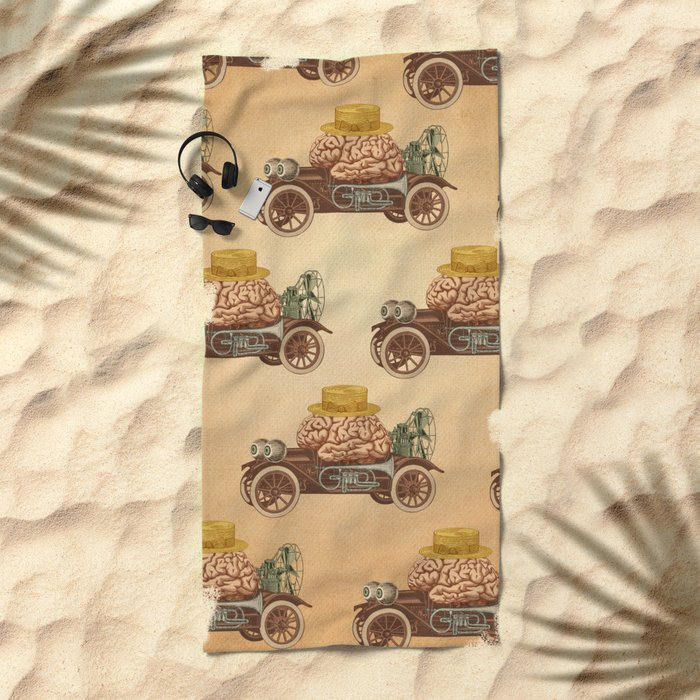 Intelligent Car Beach Towel