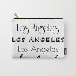 Los Angeles City Quote Sign, Digital Download, Calligraphy Text Art, Large Printable Photography Carry-All Pouch