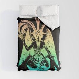 Pastel Rainbow Baphomet Comforters