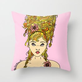Flower Girl II Throw Pillow