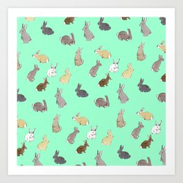 Bunches of Buns Art Print