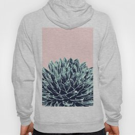 Blush Navy Blue Agave Chic #1 #succulent #decor #art #society6 Hoody