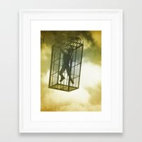 cage Framed Art Prints featuring Cage by Azure Cricket