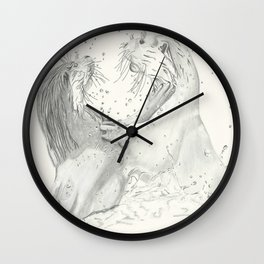 Playful Otters  Wall Clock