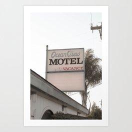 Ocean View Motel Art Print