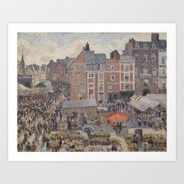 Camille Pissarro - Fair on a Sunny Afternoon, Dieppe Art Print