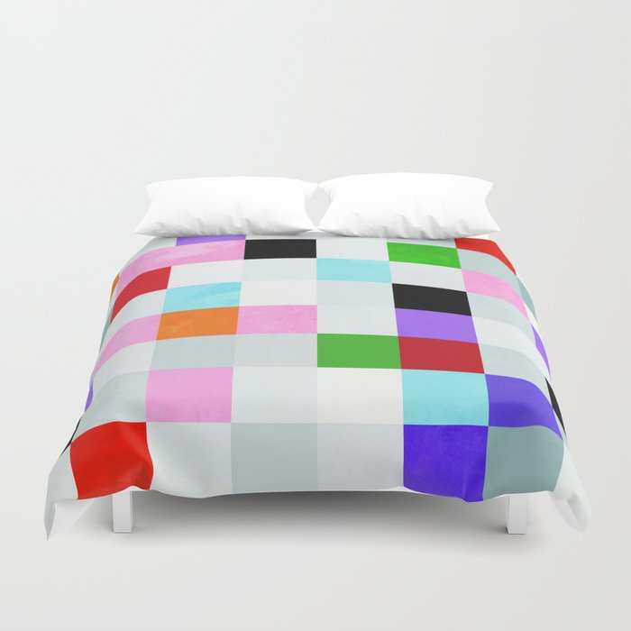 chequers modern cool Duvet Cover