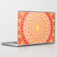 mandie manzano Laptop & iPad Skins featuring Mandala spiritual strength by Christine baessler