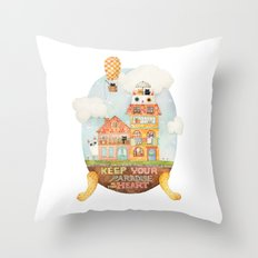 Keep your paradise in your heart Throw Pillow