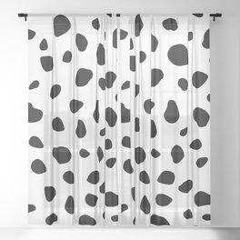 Dalmatian Dog Sheer Curtain