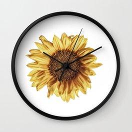 Lone Sunflower Wall Clock