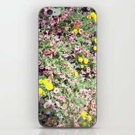 pink and yellow flowers iPhone Skin