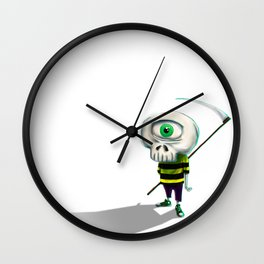 One eye casual skeleton Wall Clock