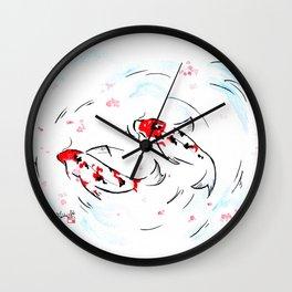 Carpe in Love Wall Clock