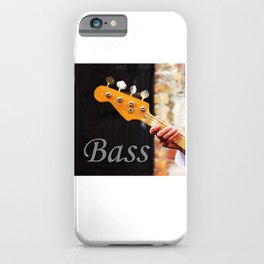 Bass Guitar neck , musical instrument  iPhone Case