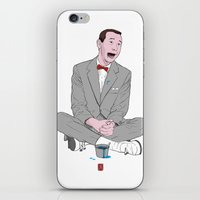 pee wee iPhone & iPod Skins featuring PEE-WEE HERMAN SMURF ICE CREAM by Christian G. Marra